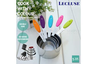 Lecluse Stainless Steel Measuring Spoons Cups Set Metal Tablespoon Tools 11PCS