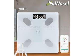 Wasel Body Fat Scale Smart Bathroom Digital LCD Weight Monitor Bluetooth BMI