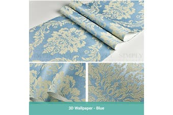 Wasel 3D Luxury Damask Wallpaper Nordic Embossed Texture Paper Roll Bedroom Stick