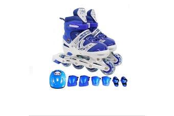 Crocox Kids Inline Skates Roller Blades Adjustable Light Up Boots Children Girls