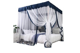 Lecluse Romantic Mosquito Curtain 4 Corner Bed Canopy King Queen Size Netting