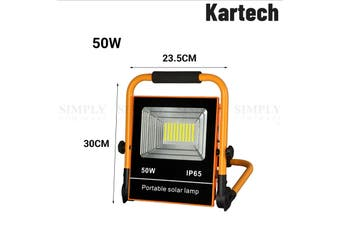 Kartech Outdoor Solar Light LED Portable Security Lamp Camping Flood 50/100W