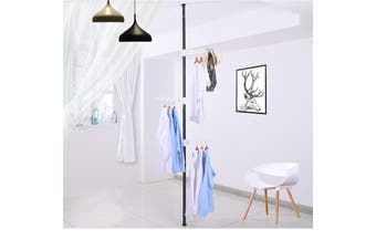 Wasel Standing Clothes Hanger Collapsible Indoor Laundry Dryer Rack Garment Pole