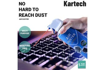 Kartech Compressed Air Duster Cleaner Multi-Purpose Can Spray 400ML - Air Duster Cleaner / Pack Of 6