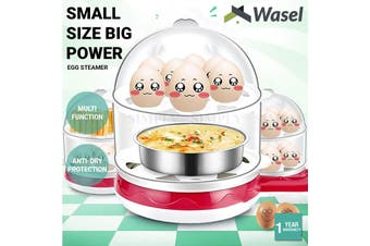 Wasel Double Layer Egg Steamer Non - Stick Frying Pan MultiFunctional Boiler