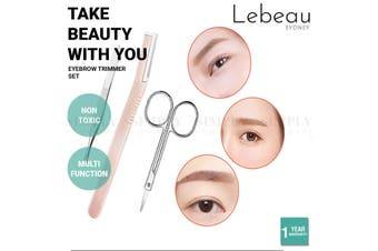Lebeau 10 In 1 Eyebrow Razor Set Beauty Tool Eyelash Curler Hair Scissors Comb - 10 In 1 Eyebrow Trimmer Set