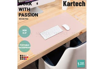 Kartech Double Side Mouse Pad Working Gaming For iPad Laptop Desktop S/M/L - M:  90cm x 45cm (Pink/Silver)
