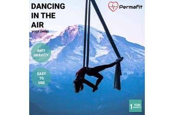 Permafit Yoga Swing Hammock Strap Ultra Strong Decompression Fitness Props - Yoga Swing - Black