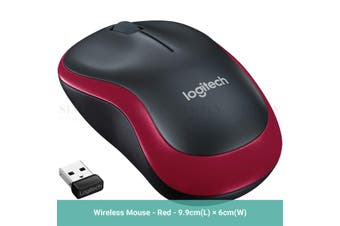 Logitech M185 Wireless Mouse 2.4Ghz 1000DPI USB Receiver Office Gaming Blue Red