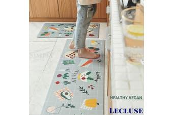 Lecluse Kitchen Non-Slip Mat Home Floor Carpet Rug Waterproof Anti-Oil PVC