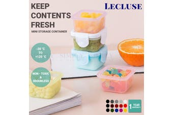 5/10x Lecluse Mini Storage Container Fridge Lid Organiser Baby Food Box 60ML - 5 Pack (Mixed Colour Only)