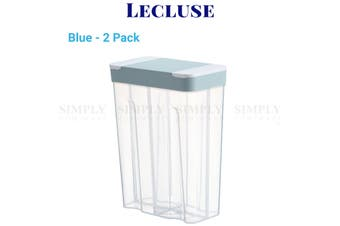 2x Lecluse Kitchen Food Storage Container Cereal Dispenser Dry Goods Bin Lid - 2 Pack