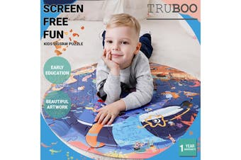 Truboo Kids Jigsaw Puzzle Children DIY Game Educational Toys Age 3+ Wooden - Thickening Cardboard - Amusement Park 97Pcs