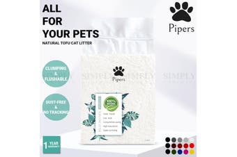 Pipers Natural Tofu Cat Litter Clumping Flushable Plant-Based Eco-Friendly 6L - Peach