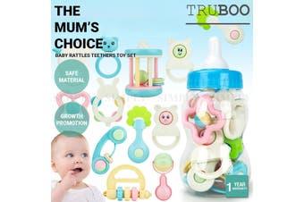 Truboo Baby Rattles Teethers Toy Set Infant Grab Shaking Bell Newborn 10Pcs