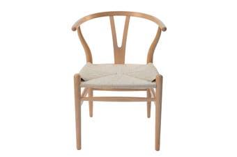 Replica Hans Wegner Wishbone Chair | Natural Frame & Natural Rattan Seat
