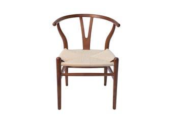 Replica Hans Wegner Wishbone Chair | Walnut Frame & Natural Rattan Seat