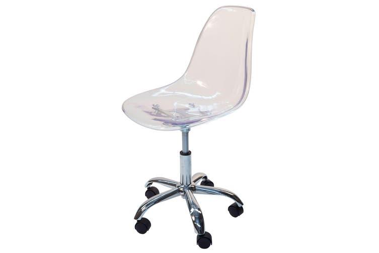 Replica Eames DSW / DSR Desk Chair | Clear Transparent