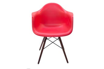 Replica Eames DAW Eiffel Chair | Walnut Legs | Red
