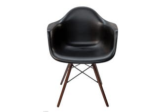 Replica Eames DAW Eiffel Chair | Walnut Legs | Black