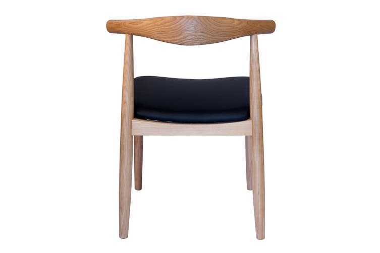 Replica Hans Wegner Elbow Chair CH20 | Black & Natural