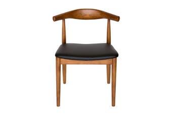 Replica Hans Wegner Elbow Chair CH20 | Black & Walnut
