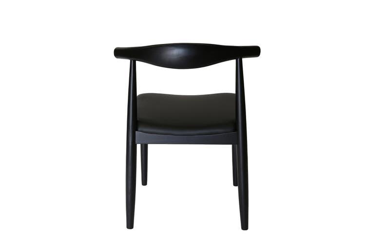 Replica Hans Wegner Elbow Chair CH20   Black