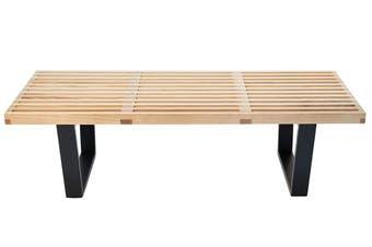 Replica George Nelson Platform Bench | 122cm | Natural & Black