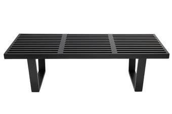 Replica George Nelson Platform Bench | 122cm | Black
