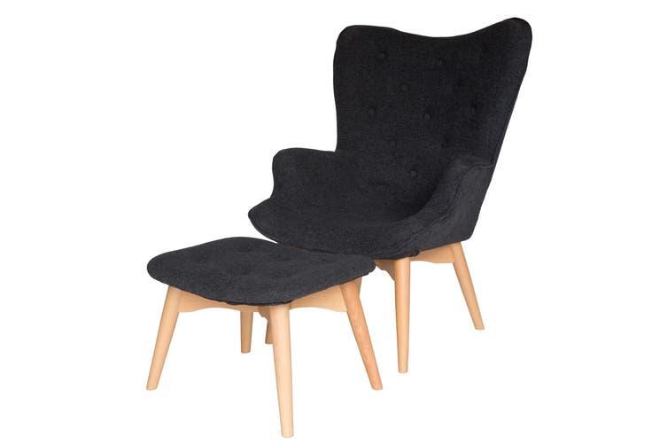 Replica Grant Featherston Contour Lounge Chair & Ottoman | Grey ...