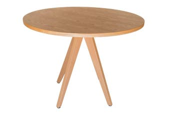 Replica Jean Prouve Inspired Round Wood Dining Table | Natural | 100cm