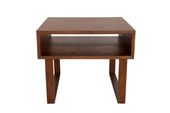 Olle Square Wood Bedside / Side Table | Walnut | 50cm