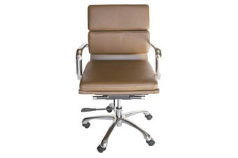 Eames Inspired Low Back Soft Pad Management Desk / Office Chair | Brown