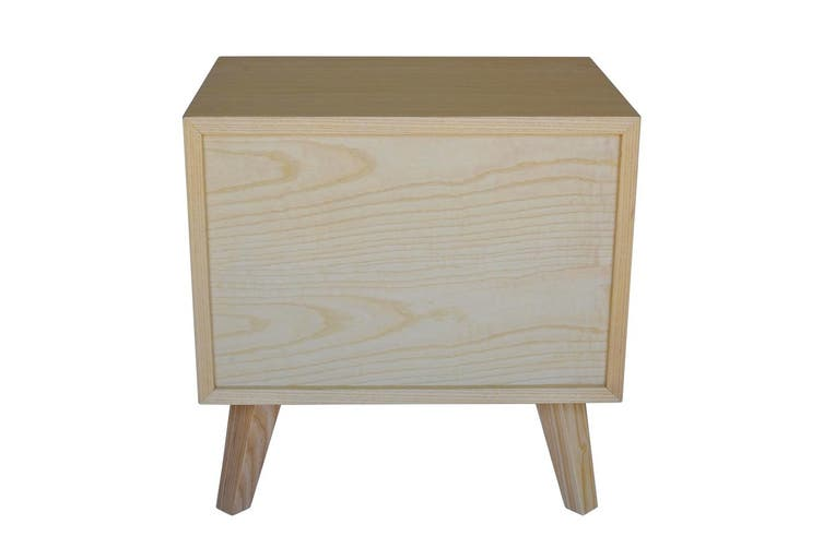 Lars Bedside Table | Natural & Black