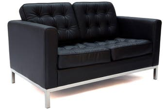 Replica Florence Knoll Lounge Chair Double Seat | Black