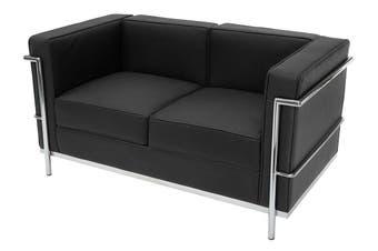 Replica Le Corbusier Lounge Chair Double Seat | Black