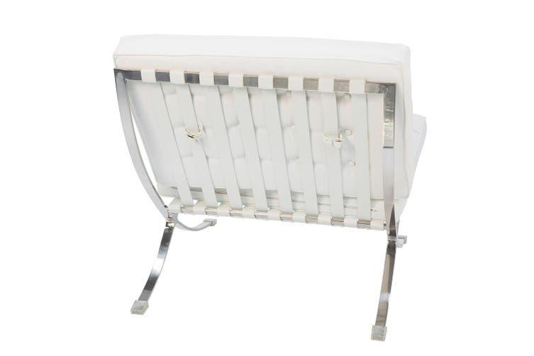 Replica Mies Van De Rohe Barcelona Lounge Chair Single Seat | White