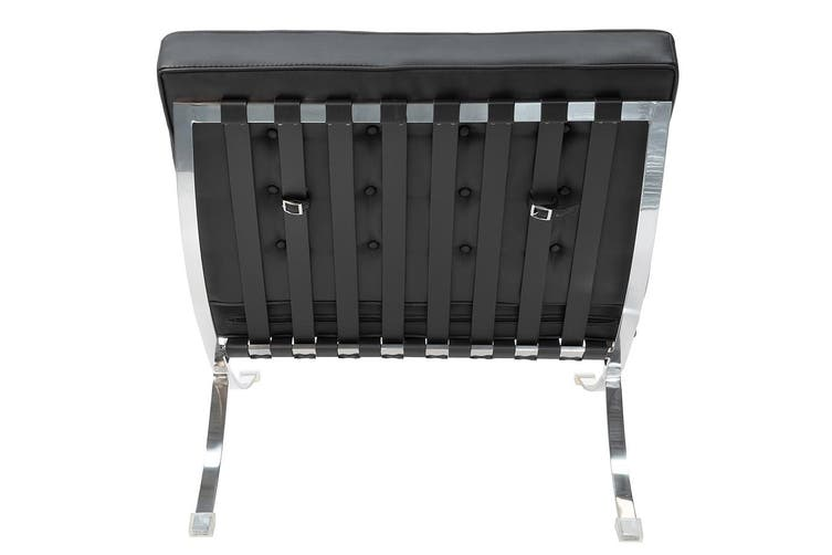 Replica Mies Van De Rohe Barcelona Lounge Chair Single Seat | Black