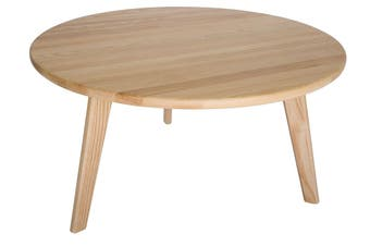 Replica Hans Wegner CH008 Round Wood Coffee Table | Natural