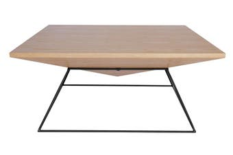 Mos Square Coffee Table   Black & Natural