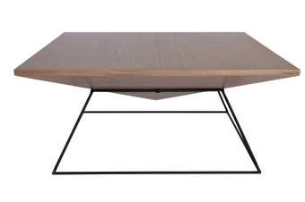 Mos Square Coffee Table   Black & Walnut