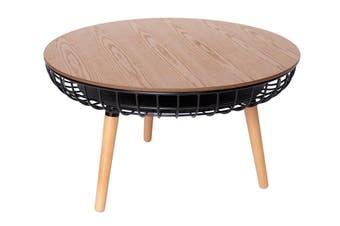 Massa Round Coffee Table   Black & Natural