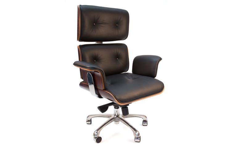 Replica Eames High Back Executive Desk / Office Chair   Black