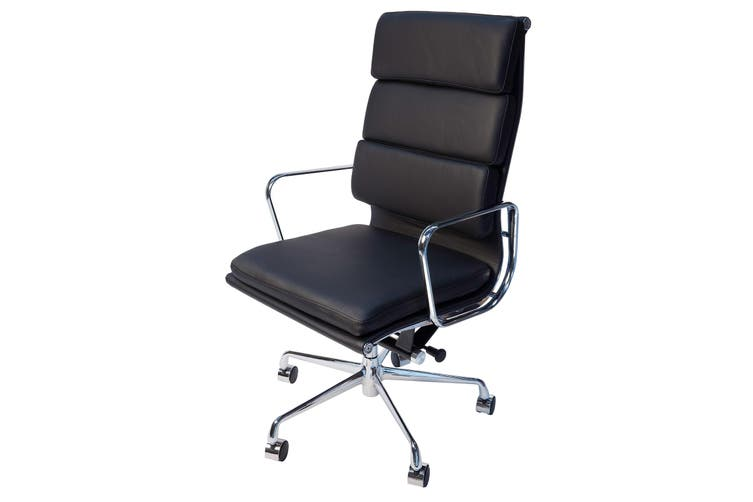 Replica Eames High Back Soft Pad Executive Desk / Office Chair | Black