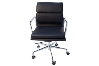 Replica Eames Low Back Soft Pad Management Desk / Office Chair | Black