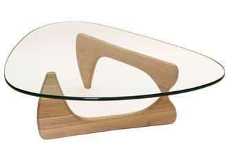 Replica Isamu Noguchi Glass Coffee Table   Natural