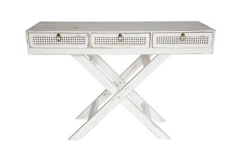 Laurent French Chic Console Table | Washed White