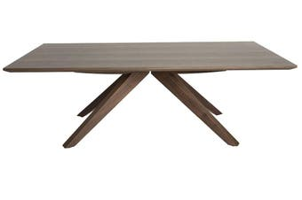 Amber Collection   Rectangular Wood Coffee Table   Walnut