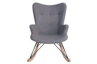 Replica Grant Featherston Rocking Chair   Grey Fabric