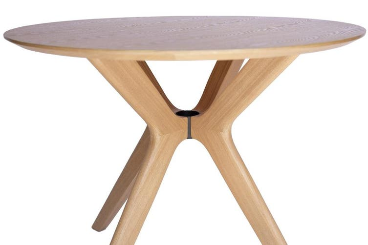 Doreen Collection | Round Wood Dining Table | Natural ...